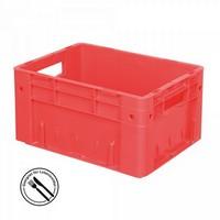 KLT für Rollenbahnen, Rippenboden, LxBxH 400 x 300 x 210 mm, rot