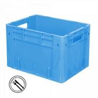 KLT für Rollenbahnen, Rippenboden, LxBxH 400 x 300 x 270 mm, blau