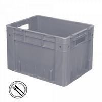 KLT für Rollenbahnen, Rippenboden, LxBxH 400 x 300 x 270 mm, grau