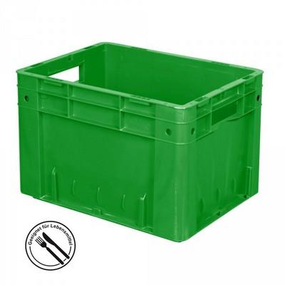 KLT für Rollenbahnen, Rippenboden, LxBxH 400 x 300 x 270 mm, grün