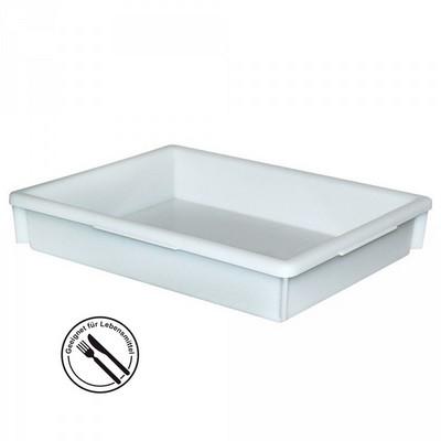 Kunststoffwanne, lebensmittelecht, LxBxH 465 x 360 x 82 mm, Inhalt 10 Liter, weiß
