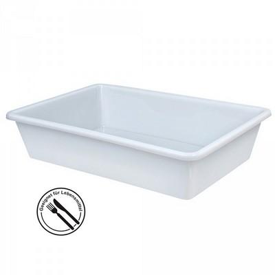 Kunststoffwanne, lebensmittelecht, LxBxH 500 x 340 x 110 mm, Inhalt 14 Liter, weiß