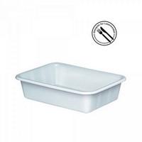 Kunststoffwanne, lebensmittelecht, LxBxH 610 x 440 x 150 mm, Inhalt 25 Liter, weiß