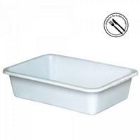 Kunststoffwanne, lebensmittelecht, LxBxH 710 x 490 x 185 mm, Inhalt 40 Liter, weiß