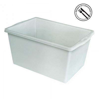 Kunststoffwanne, lebensmittelecht, LxBxH 640 x 450 x 340 mm, Inhalt 60 Liter, weiß
