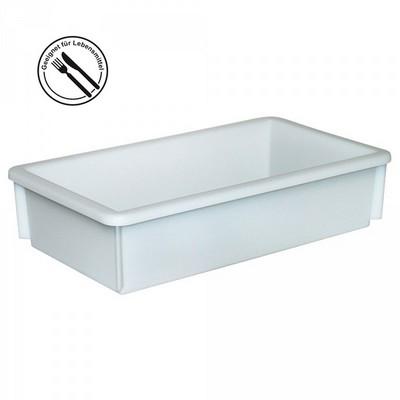 Kunststoffwanne, lebensmittelecht, LxBxH 450 x 255 x 105 mm, Inhalt 8 Liter, weiß