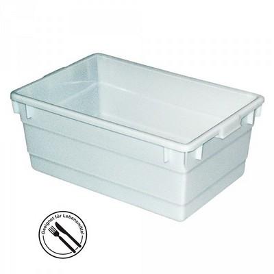 Kunststoffwanne, lebensmittelecht, LxBxH 750 x 490 x 310 mm, Inhalt 80 Liter, weiß