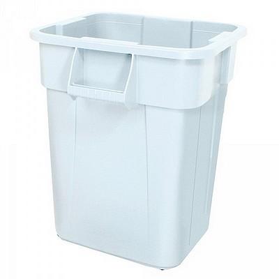 Zutatencontainer für Lebensmittel, Kunststoff, weiß, eckig, Inhalt 106 Liter