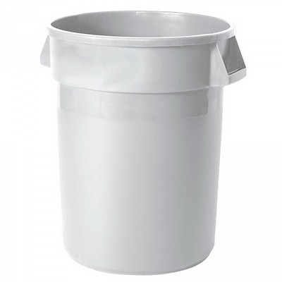 Zutatencontainer für Lebensmittel, Kunststoff, weiß, rund, Inhalt 121 Liter