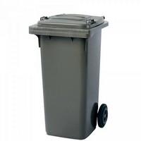 Mülltonne 120 Liter, Kunststoff, mit Rollen, grau