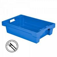 Nestbarer Stapelbehälter, 600x 400 x 150 mm, 25 Liter, blau