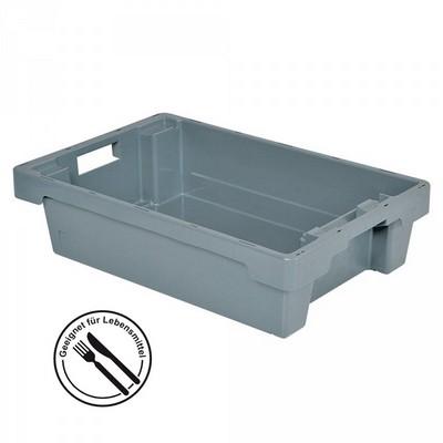 Nestbarer Stapelbehälter, 600x 400 x 150 mm, 25 Liter, grau