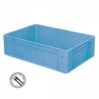 Stapelbehälter für schwere Lasten, PP-Kunststoff blau / lebensmittelecht - LxBxH 600 x 400 x 175 mm, 31 Liter
