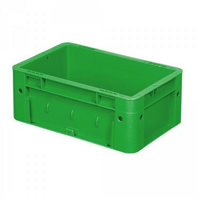 Stapelbehälter für schwere Lasten, PP-Kunststoff grün/ lebensmittelecht / mit 2 Griffleisten - LxBxH 300 x 200 x 120 mm, 4 Liter