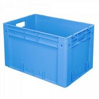 Stapelbehälter für schwere Lasten, PP-Kunststoff blau / lebensmittelecht - LxBxH 600 x 400 x 420 mm, 80 Liter