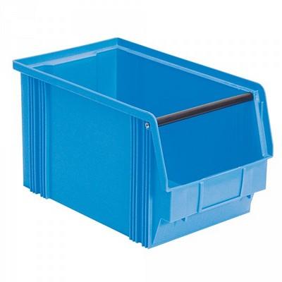 Sichtbox FB3, 12 Liter, Außenmaß LxBxH 350/300 x 200 x 200 mm, PE-HD Kunststoff, Farbe: blau
