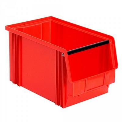 Sichtbox FB3, 12 Liter, Außenmaß LxBxH 350/300 x 200 x 200 mm, PE-HD Kunststoff, Farbe: rot