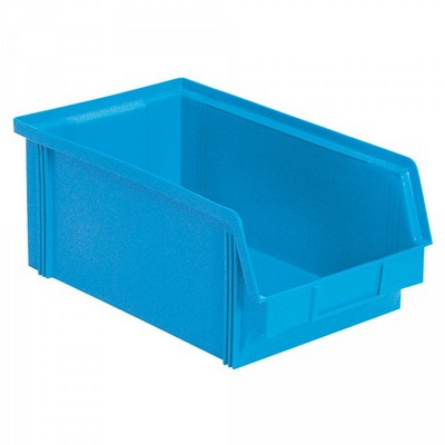 Sichtbox FB3Z, 8,7 Liter, Außenmaß LxBxH 350/300 x 200 x 1345 mm, PE-HD Kunststoff, Farbe: blau