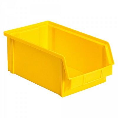 Sichtbox FB3Z, 8,7 Liter, Außenmaß LxBxH 350/300 x 200 x 1345 mm, PE-HD Kunststoff, Farbe: gelb