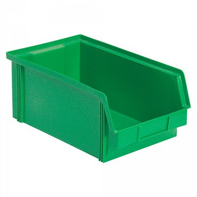 Sichtbox FB3Z, 8,7 Liter, Außenmaß LxBxH 350/300 x 200 x 1345 mm, PE-HD Kunststoff, Farbe: grün