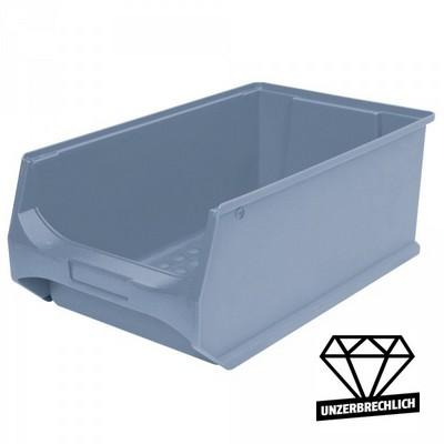 Sichtbox Profi LB2, PP-Kunststoff, Inhalt 21 Liter, Farbe: grau