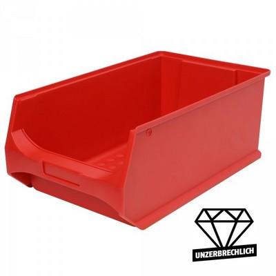 Sichtbox Profi LB2, PP-Kunststoff, Inhalt 21 Liter, Farbe: rot