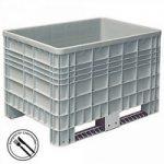 Volumenbox, lebensmittelecht, verrippte Außenwände, Polyethylen (PE-HD), bis 7-fach stapelbar, LxBxH ..