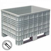 Volumenbox, lebensmittelecht, verrippte Außenwände, Polyethylen (PE-HD), bis 7-fach stapelbar, LxBxH 1200 x 800 x 800 mm