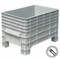 Volumenbox, stapelbar, Boden/Wände geschl. 276 Liter Inhalt, LxBxH 935 x 580 x 515 mm, lebensmittelecht