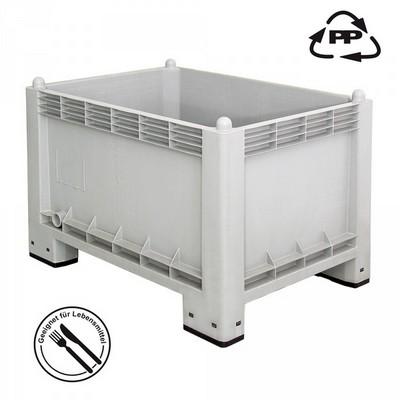 Volumenbox, stapelbar/ 4 Füße, LxBxH 1000 x 700 x 650 mm, Inhalt 300 Liter, lebensmittelecht