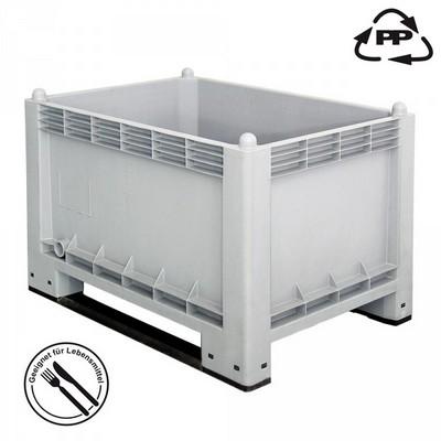 Volumenbox, stapelbar/ 2 Kufen, LxBxH 1000 x 700 x 650 mm, Inhalt 300 Liter, lebensmittelecht
