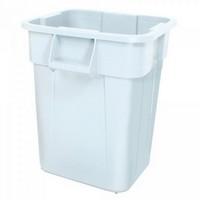 Zutatencontainer für Lebensmittel, Kunststoff, weiß, eckig, Inhalt 151 Liter