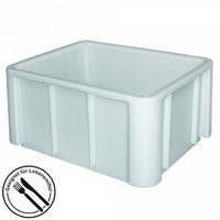 Zutatencontainer aus Kunststoff (PE-HD), weiß, LxBxH 800 x 600 x 420 mm, Boden und Wände geschlossen, glatter Boden