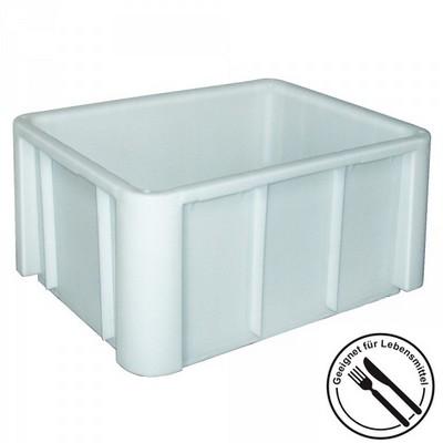Zutatencontainer aus Kunststoff (PE-HD), weiß, LxBxH 800 x 600 x 405 mm, Boden und Wände geschlossen, glatter Boden