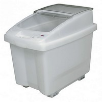 Zutatencontainer mit Deckel, Inhalt 80 Liter - BxTxH 560 x 435 x 655 mm, Polypropylen-Kunststoff (PP), fahrbar