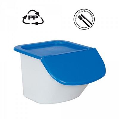 Vorratsbehälter 15 Liter, 10,5 kg Mehl oder 15 kg Zucker, Polypropylen (PP), LxBxH 440 x 400 x 280 mm, weiß/blau