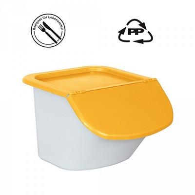 Vorratsbehälter 15 Liter, 10,5 kg Mehl oder 15 kg Zucker, Polypropylen (PP), LxBxH 440 x 400 x 280 mm, weiß/orange