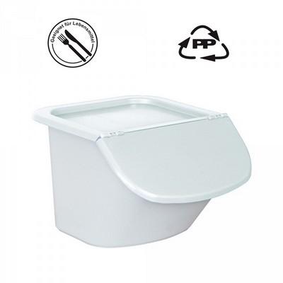 Vorratsbehälter 15 Liter, 10,5 kg Mehl oder 15 kg Zucker, Polypropylen (PP), LxBxH 440 x 400 x 280 mm, weiß/weiß