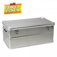 Alubox 134 Liter, mit Stapelecken, LxBxH 885 x 485 x 385 mm