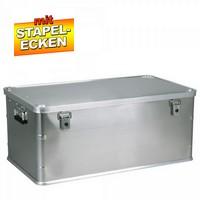 Alubox 140 Liter, mit Stapelecken, LxBxH 900 x 495 x 383 mm