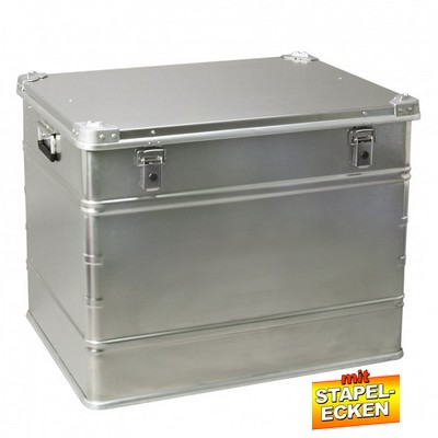 Alubox 240 Liter, mit Stapelecken, LxBxH 785 x 585 x 615 mm