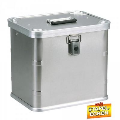 Alubox 29 Liter, mit Stapelecken, LxBxH 383 x 295 x 355 mm