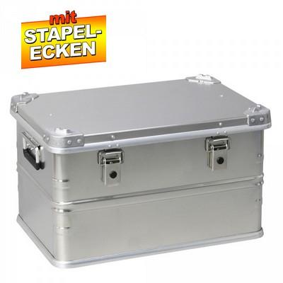 Alubox 60 Liter, mit Stapelecken, LxBxH 585 x 390 x 355 mm