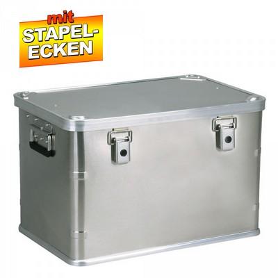 Alubox 70 Liter, mit Stapelecken, LxBxH 595 x 397 x 382 mm