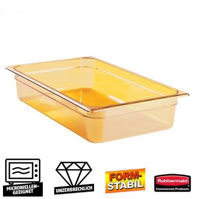 GN Schale 1/1, Inhalt 13 Liter, LxBxH 530 x 325 x 100 mm, Ultem-Kunststoff, bernsteinfarben