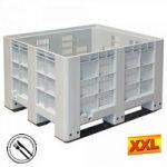 Großbox mit 3 Kufen, LxBxH 1200 x 1000 x 760 ..