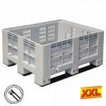 Großbox mit 3 Kufen, LxBxH 1200 x 1000 x 580 ..