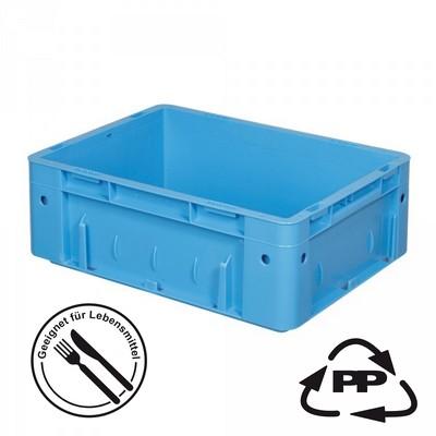 KLT 400 x 300 x 120 mm, rollenbahntauglich, blau
