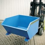 Kippbehälter für Stapler, Stahlblech, Volumen: 0,30 m³, Tragkraft 750 kg