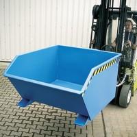 Kippbehälter für Stapler, Stahlblech, Volumen: 1,00 m³, Tragkraft 1500 kg